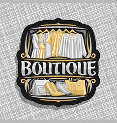 logo for boutique vector image
