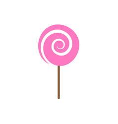 lollipop candy icon design template isolated vector image