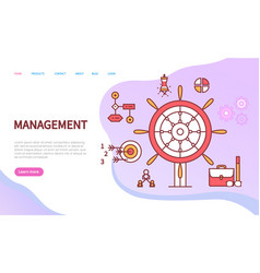 management web system finance and computer vector image