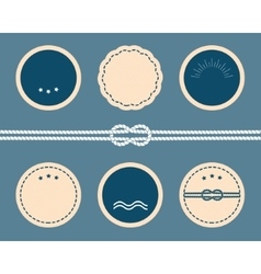 Nautical elements Blank badges and labels vector