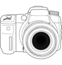 Photo camera draw vector