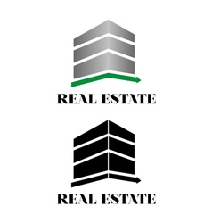 Real estate building logo vector image