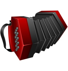 Red concertina vector