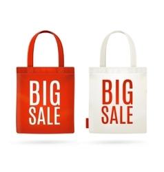 Sale eco bag set vector
