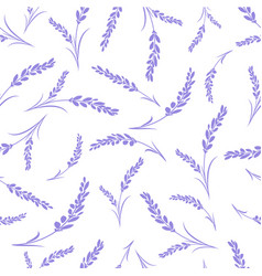 seamless lavender flowers pattern on white vector image