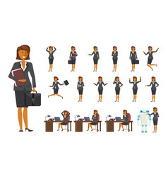 Smart business woman character vector
