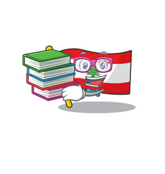 Student with book flag lebanon with character vector