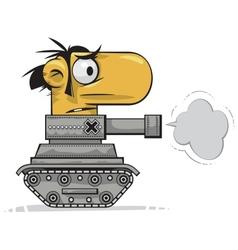 Tank man vector