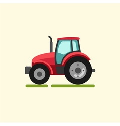 Tractor farmer machine vector image