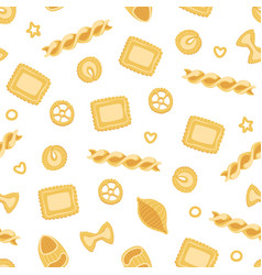 traditional italian pasta seamless pattern design vector image