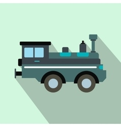 Train locomotive flat icon vector image