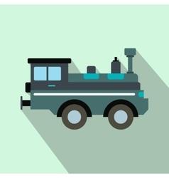 Train locomotive flat icon vector