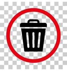 Trash Can Rounded Icon vector