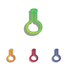 Tube Laboratory glass sign Colorfull applique vector image