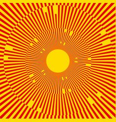 with rays beams radial - radiating lines abstract vector image