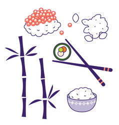 asian cuisine traditional food culture vector image vector image