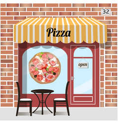 cafe pizza fast food vector image