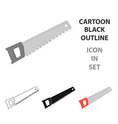 hand saw icon in cartoon style isolated on white vector image