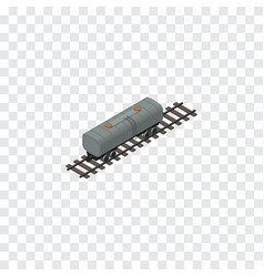 Isolated petroleum railway can isometric oil vector