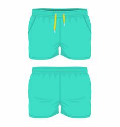mens green sport shorts vector image vector image