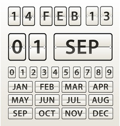 Plastic diary with digits set vector image