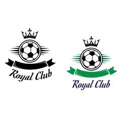 Royal football or soccer club symbol vector image