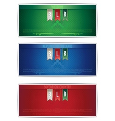 Three Belarus vertical banners with ribbons vector image vector image