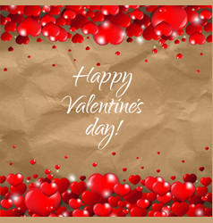 valentines day border cardboard background vector image vector image