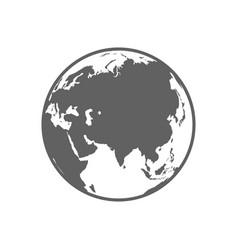 White and gray flat globe symbol vector