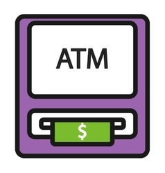 ATM icons set vector image vector image