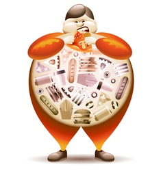 Fat Man vector image vector image