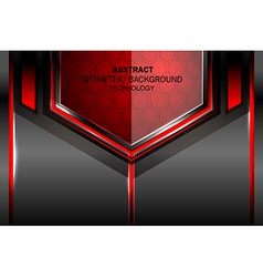 geometric tech red background vector image