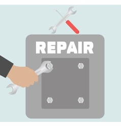 Hand with wrench Repair icon vector image