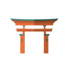 japanese wooden torii gate national symbol vector image vector image
