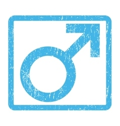 Male Symbol Icon Rubber Stamp vector image vector image