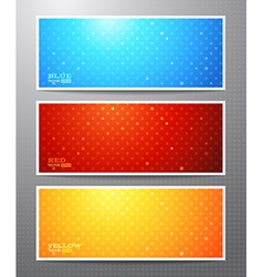 Set of three bright winter banners vector image