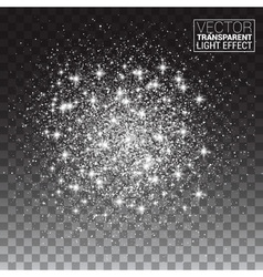 Sparkling background Silver Explosion on vector image vector image