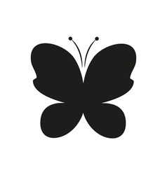 butterfly black simple icon on white background vector image vector image
