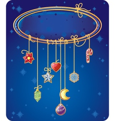 Christmas and New Year bacground with copy space vector image vector image