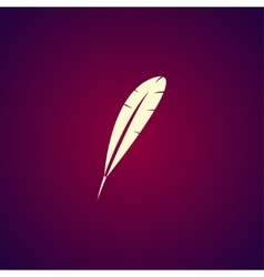 Feather Icon Flat design style vector image
