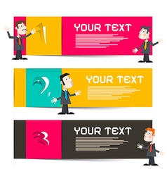Infographics Template with Three Paper Labels and vector image vector image