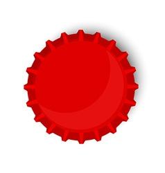 Red bottle cap vector image vector image