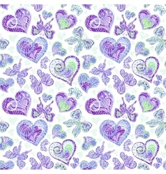 Seamless pattern with colorful vintage blue vector image vector image