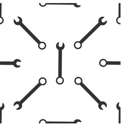 spanner icon seamless pattern on white background vector image