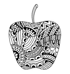 beautiful Patterns stylized apple vector image vector image