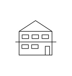 duplex house icon vector image