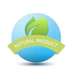 eco emblem - natural product vector image vector image
