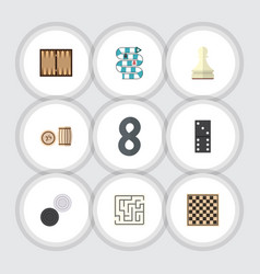 flat icon entertainment set of labyrinth bones vector image vector image