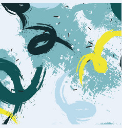 grunge pastel blots in blue yellow colors vector image vector image