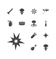 13 bomb icons vector